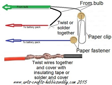 Simple paper clip switch wiring diagram