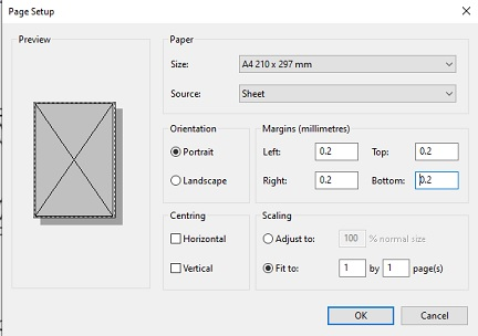 how to set a printer for printing templates