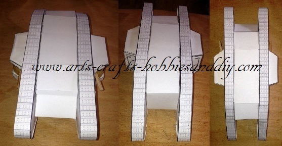 model WWI landship body and tank track assemblies