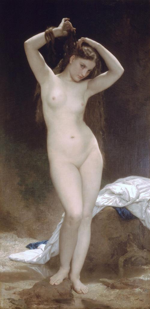Topless weather girl